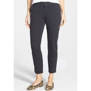 Nordstrom Caslon Gray Cuffed Chino Pants 6 NWT
